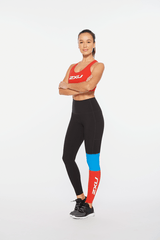 Motion Racerback Crop Womens Red