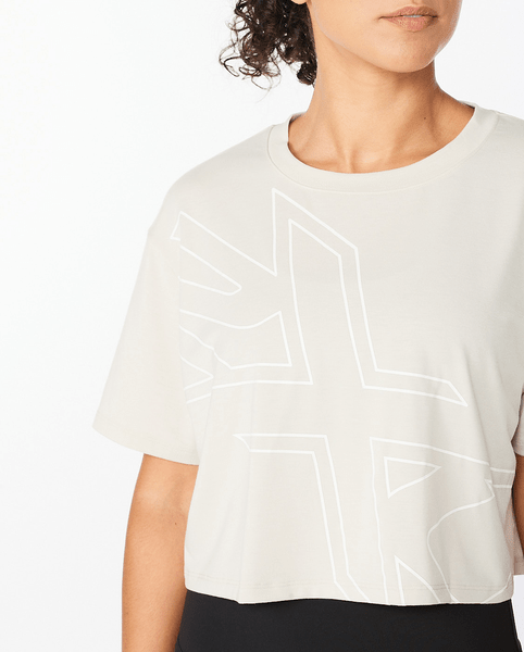 Form Crop Tee Womens Beige