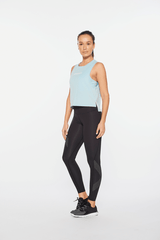 Form Crop Tank Womens Blue