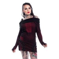 JENNY TOP - DARK RED