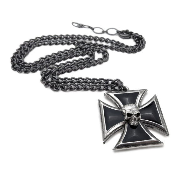 Black Knight's Cross Pendant - Goth Unite