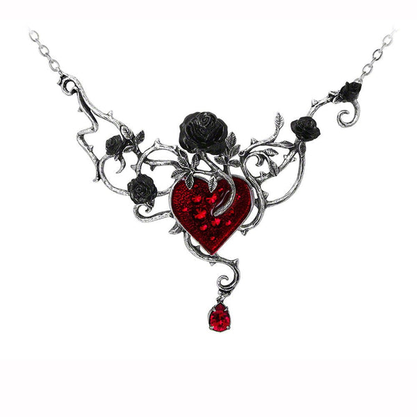 Bed Of Blood-Roses Necklace - Goth Unite