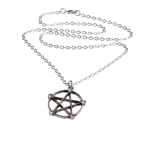 Wiccan Elemental Pentacle Necklace - Goth Unite