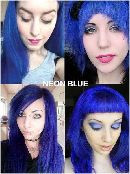 Neon Blue Directions Semi-Permanent Hair Colour