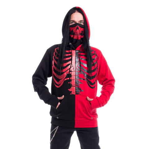 FRACTURE HOOD - BLACK/RED