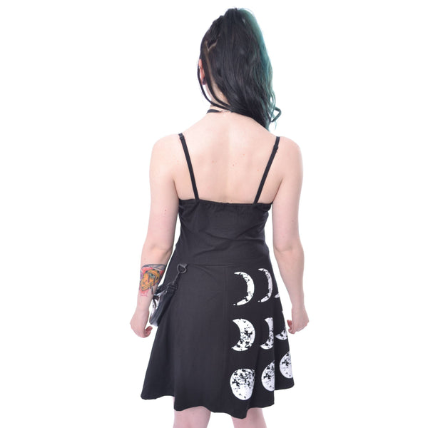 MOONCHILD DRESS - BLACK - Goth Unite