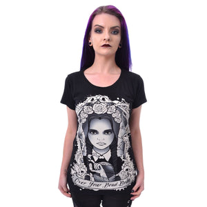 OVER YOUR DEAD BODY T SHIRT - BLACK