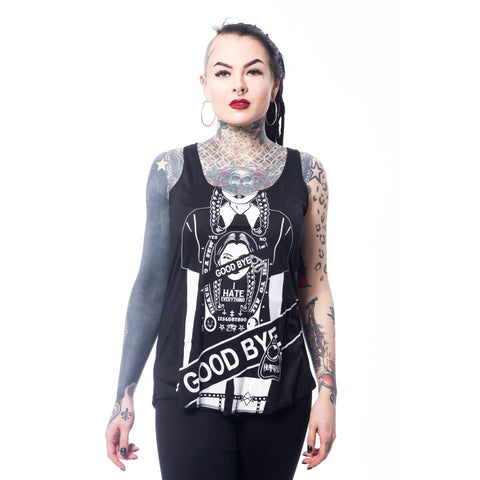 WEDNESDAY GOODBYE VEST - BLACK