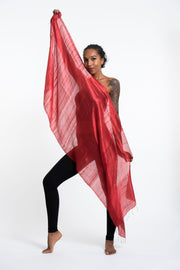 Thai Silk Shawl Scarf in Red