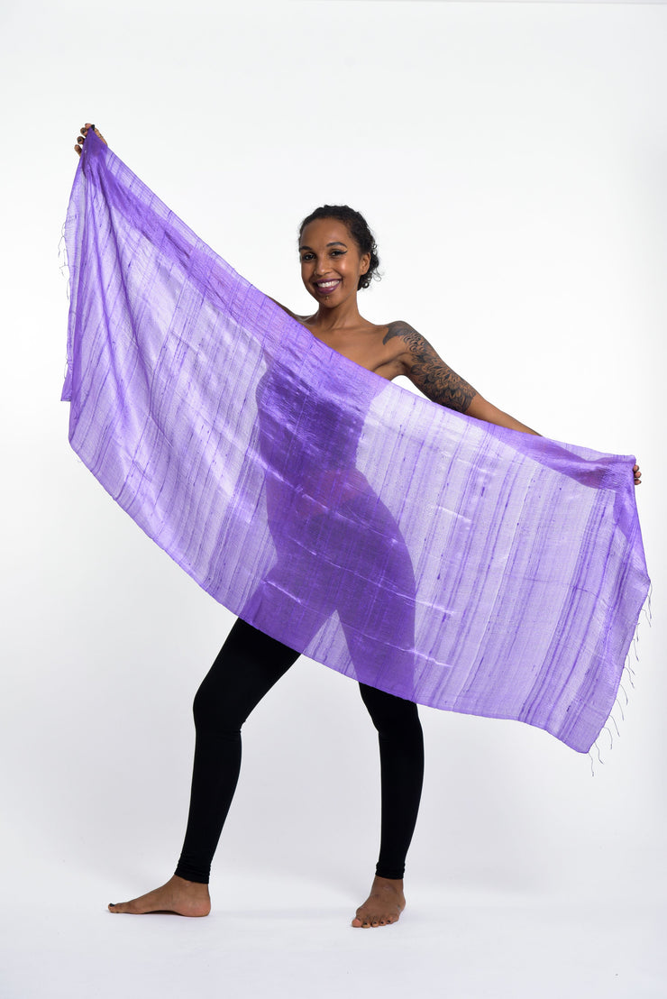 Thai Silk Shawl Scarf in Purple