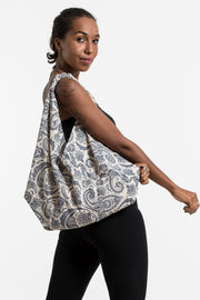 Paisley Print Cotton Hobo Bag