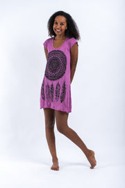 Womens Dreamcatcher Dress in Pink
