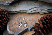 Swirl Oval Sterling Silver Earrings