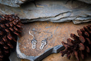 Celtic Knot Cube Sterling Silver Earrings
