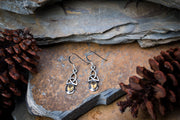 Trinity Sterling Silver Earrings with Citrine