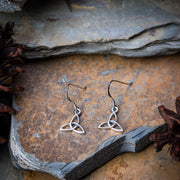 Celtic Trinity Sterling Silver Earrings