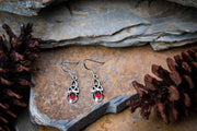 Trinity Sterling Silver Earrings with Ruby