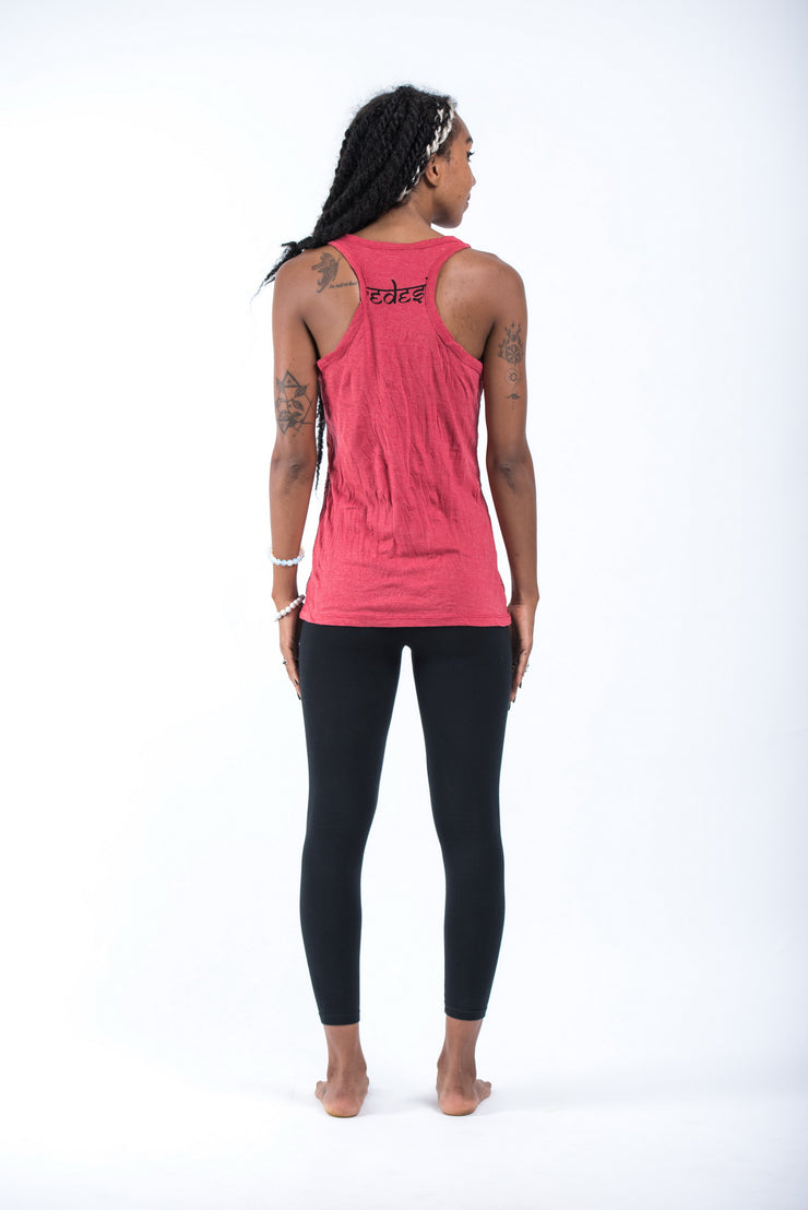 Womens Wild Elephant Tank Top in Red