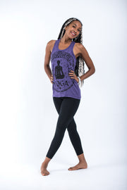 Womens Infinitee Yoga Stamp Tank Top in Purple