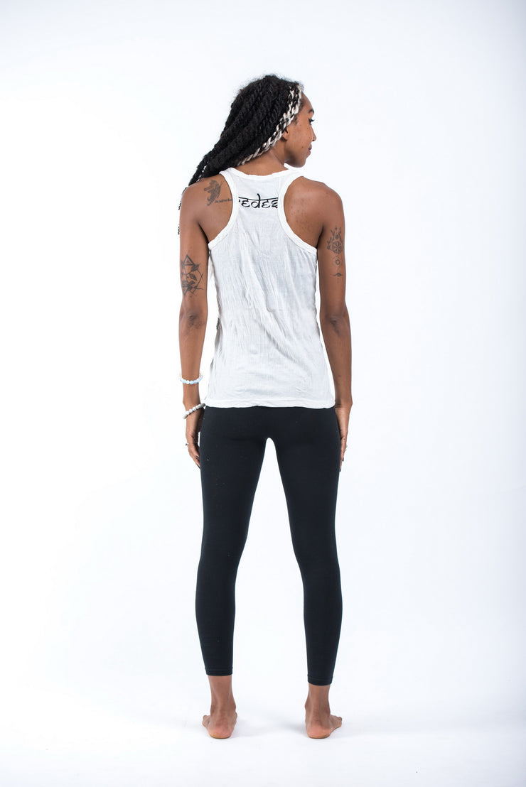 Womens Octopus Tank Top in White