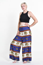 Womens Elephant Bliss Palazzo Pants in Blue