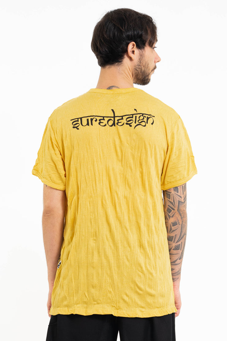 Mens Sunflower Skull T-Shirt in Yellow