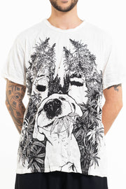 Mens Happy Dog T-Shirt in White