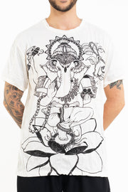 Mens Lord Ganesh T-Shirt in White