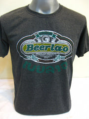 Vintage Style Beerlao Beer T-Shirt in Black
