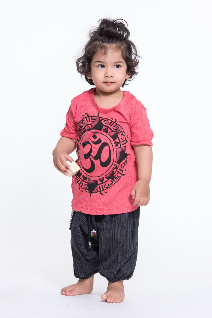 Kids Infinitee Om T-Shirt in Red