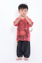 Kids Baby Buddha T-Shirt in Red