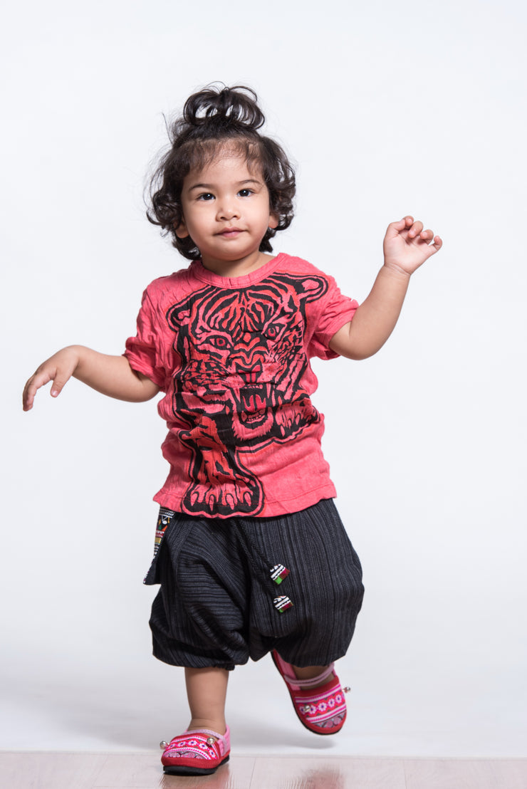Kids Baby Tiger T-Shirt in Red