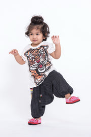 Kids Baby Tiger T-Shirt in White