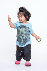 Kids Baby Ganesh T-Shirt in Light Blue