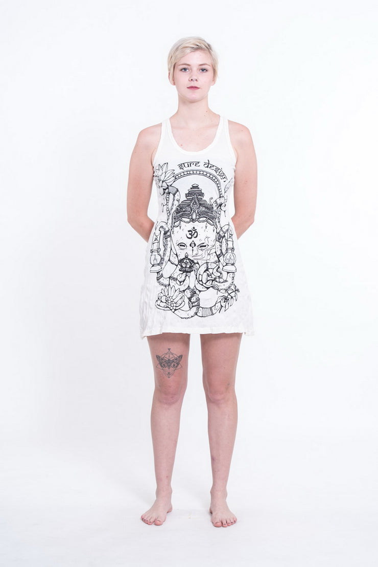 Womens Octopus Oracle Tank Dress in White