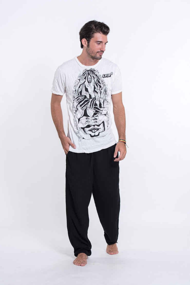 Mens Crazy Fingers T-Shirt in White