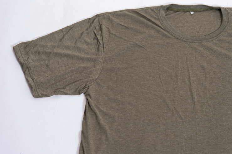 Plain Cotton T-Shirt in Olive