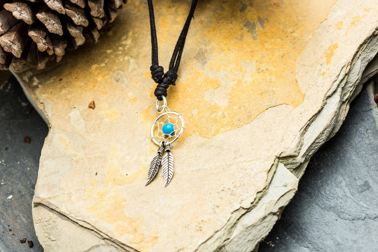 Dreamcatcher Sterling Silver Pendant Necklace