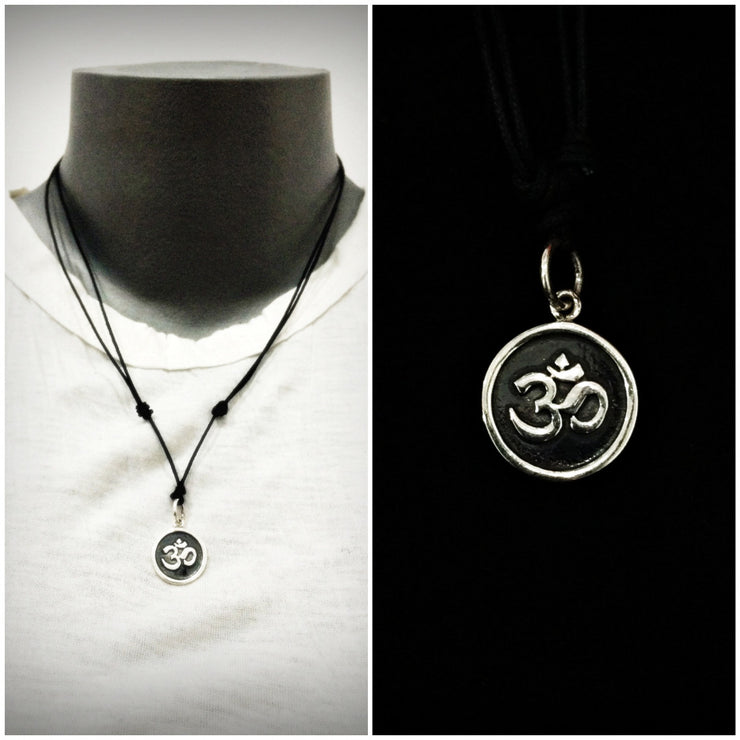 Om Sterling Silver Pendant Necklace