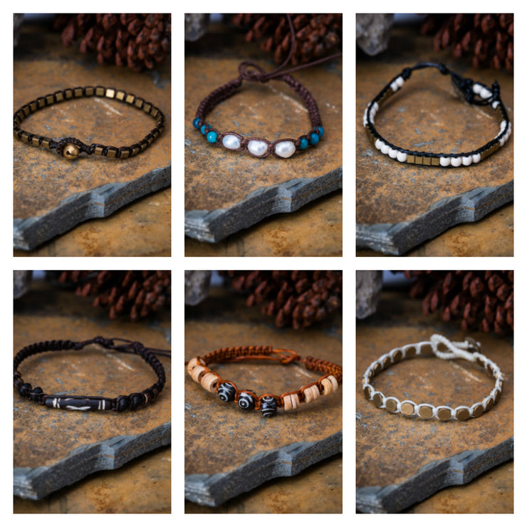Assorted 6 Piece Set Handmade Thai Bracelet