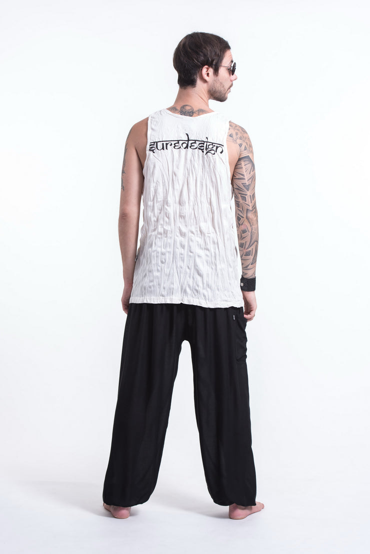 Mens See No Evil Buddha Tank Top in White