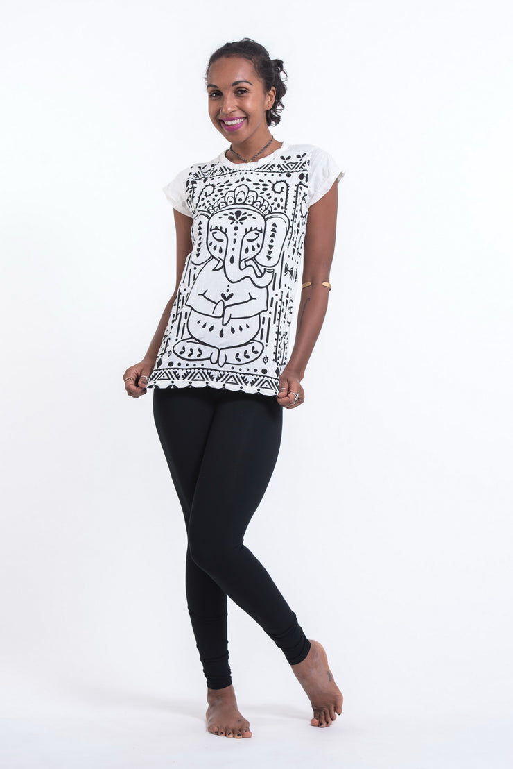 Womens Shanti Ganesh T-Shirt in White