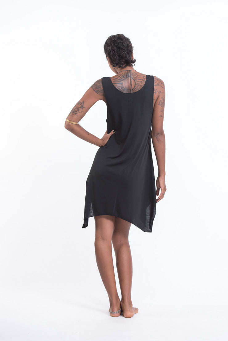 Womens Bodhi Tree Tank Dress in Silver on Black