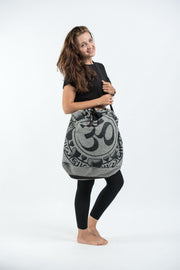 Infinitee Om Oversize Drawstring Shoulder Bag  in Denim Gray
