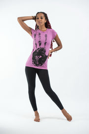 Womens Eye In Palm T-Shirt in Pink
