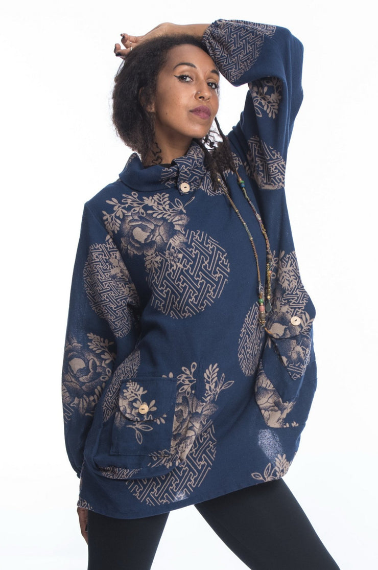 Unisex Floral Non-Stretch Thai Cotton Pullover