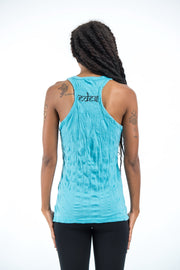 Womens Celtic Tree Tank Top in Turquoise