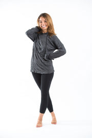 Unisex Solid Color Hoodie in Black