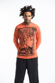 Unisex Sanskrit Buddha Hoodie in Orange