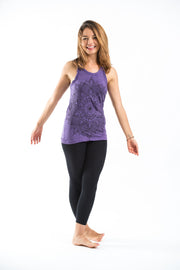 Womens Lotus Mandala Tank Top in Purple